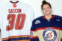 La gardienne de but Ève Gascon, première joueuse repêchée par une équipe de la LHJAAAQ l'an dernier, enfilera l'uniforme bleu-blanc-rouge pour la première fois, dimanche après-midi au Colisée Jean-Béliveau