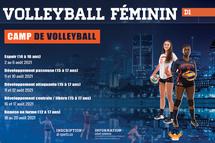 Camp de volleyball - Crédit photo - André Gendron, entraineur-chef de volleyball féminin