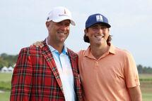 Stewart Cink et son fils, Reegan. (Photo Getty)