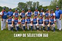 Joueuses invitées au camp de sélection pour l'équipe du Québec 16U