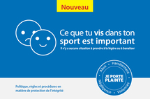 Protection de l'intégrité en contexte sportif: Lancement d'une politique cadre