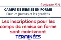 Inscriptions CAMPS de REMISE EN FORME terminées