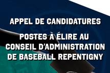Appel de candidatures - Conseil d'administration