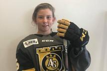 Portrait d'une joueuse des As de Québec AAA