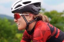 Lex Albrecht, wearing the Sena R1 Evo Smart Helmet