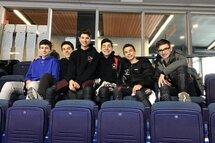 Équipe masculine du club de patinage de vitesse Rosemère, Rive Nord participant à la compétition Provinciale