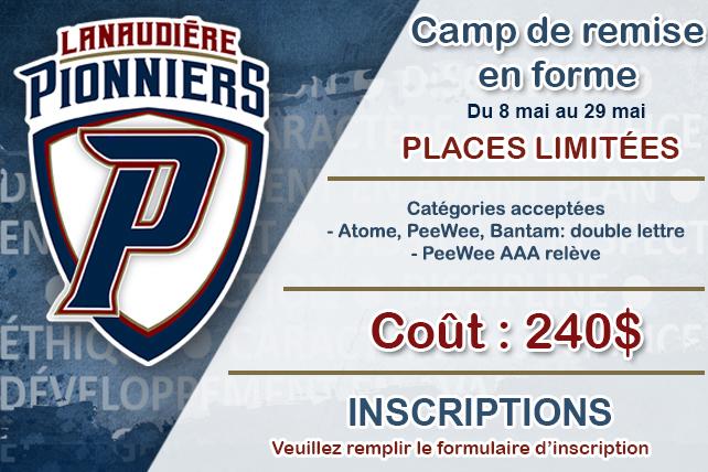 Camp de remise en forme Pionniers Lanaudière