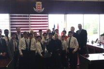Rangers de Laval-Est PW BB à la ville de Laval avec le Maire!