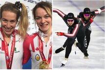 Marianne St-Gelais a accompagné sa collègue Kim Boutin à deux reprises sur le podium de la Coupe du monde courte piste de Shanghai, pendant que Laurent Dubreuil et Alexandre St-Jean ont jumelé leurs forces pour remporter l'or au Sprint par équipe à la Coupe du monde longue piste de Heerenveen.