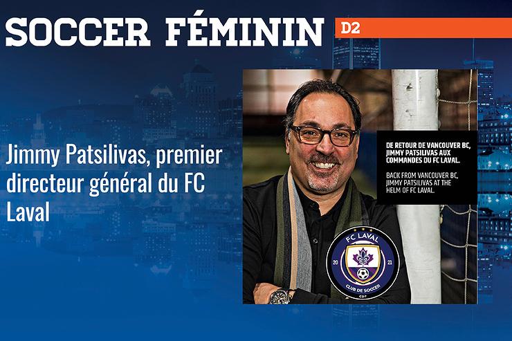 Jimmy Patsilivas, premier directeur général du FC Laval