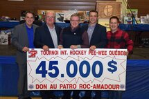 Le Tournoi International de Hockey Pee-Wee supporte la mission du Patro Roc-Amadour