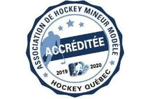 L'AHM de Sainte-Anne-des-Plaines accréditée Association de hockey mineur modèle