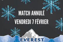 Match du 7 février 2020 annulé