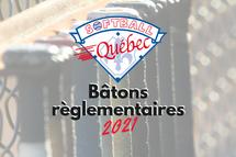 Mise à jour de la règle des bâtons pour le softball au Québec