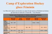 Camp d'exploration hockey féminin