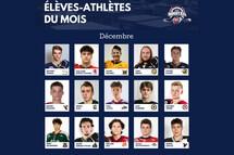 La Ligue midget AAA honore les 15 élèves-athlètes CCM du mois de décembre