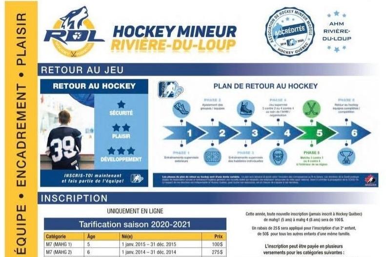 Inscription Hockey Rivière-du-Loup