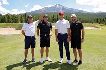 Bryson DeChambeau, Phil Mickelson, Tom Brady et Aaron Rodgers. (Getty)
