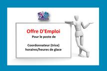 Hockey région Laval est à la recherche de candidats pour le poste suivant Coordonnateur (trice) horaires/heures de glace