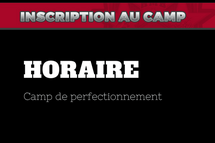 Horaire camp 2019