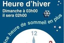 On recule l'heure dans la nuit du samedi 2 au dimanche 3 novembre