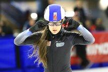 Sabrina Paul a remporté le classement cumulatif de la Qualification nationale ouverte, du 2 au 5 novembre, à Calgary. — Photo Arno Hoogveld