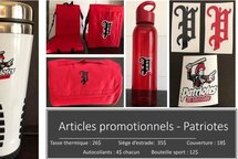 Articles promotionnels des Patriotes