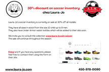 News from Chaussures Laura-jo - SOCCER INVENTORY 30% discount