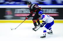 Alexis Lafenière a aidé Équipe Canada junior à décrocher la médaille d'or lors du Championnat mondial de hockey junior, au début de l'année 2020. (Photo Getty)