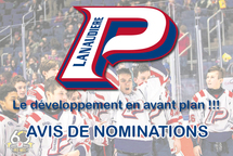 Avis de nominations
