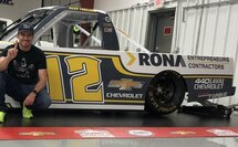 Image of Alex Tagliani's RONA Contractors Chevy Silverado Photo credit: Young's Motorsports