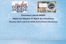 Nous vous invitons tous à participer ou assister au match des Mamans et à celui des Entraîneurs