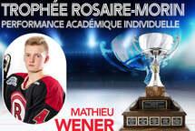 Mathieu Wener - gagnant du trophée Rosaire-Morin