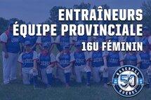 Les entraîneurs de l'équipe du Québec 16U sont annoncés!