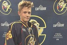Zachary Morin, Peewee AAA des Conquérants des Basses-Laurentides.