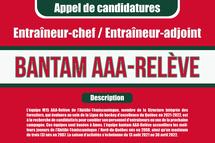 Appel de candidatures - Entraîneurs bantam AAA-Relève