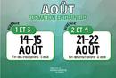 Août 2021 - Calendrier de formations