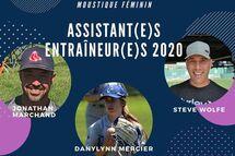 Pink Sox Moustique féminin: les assistants entraîneurs.