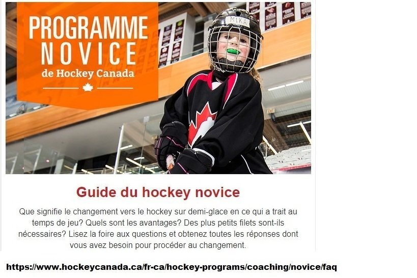 Guide du hockey novice
