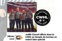 Closset au Centre Bell pour la Super série de la CWHL