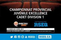 Le championnat provincial cadet et juvénile division 1 aura lieu à l'école secondaire Saint-Laurent!