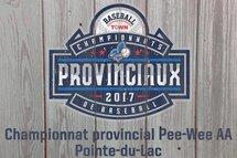 Le championnat provincial Pee-Wee AA aura bientôt lieu à Pointe-du-Lac!