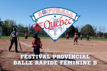 Résultats du Festival provincial de balle rapide féminine B de Softball Québec 2021