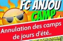 Annulation des activités du camps de jour de Soccer Anjou pour l'été 2020.