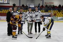 Les joueurs du Phoenix de Sherbrooke: Julien Anctil, Alexandre Joncas, Samuel Poulin & Vincent Anctil