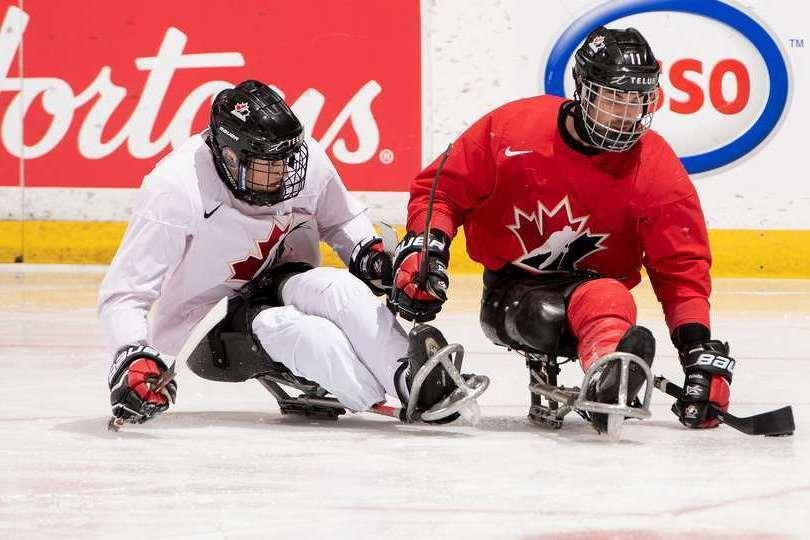 Annonce de la formation en vue du camp d'entraînement de l'équipe nationale de parahockey du Canada, présenté par Canadian Tire - Les Québécois Jean-François Huneault et Anton Jacobs-Webb se taillent un poste