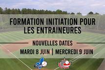 Nouvelles dates pour la formation Initiation pour les entraîneures!