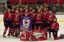 Les Canadiennes PeeWee A gagnante du tournoi de Laval