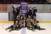 Le Novice B Rosemont, champions 2015 de la Coupe Montréal