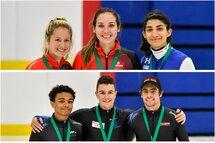 Les podiums au cumulatif de l'Élite 1, à Sherbrooke, les 23 er 24 septembre. — Photos Olivier Boilard